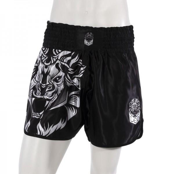 Leo INSTINCT Kickboxing Short - Black/White-M