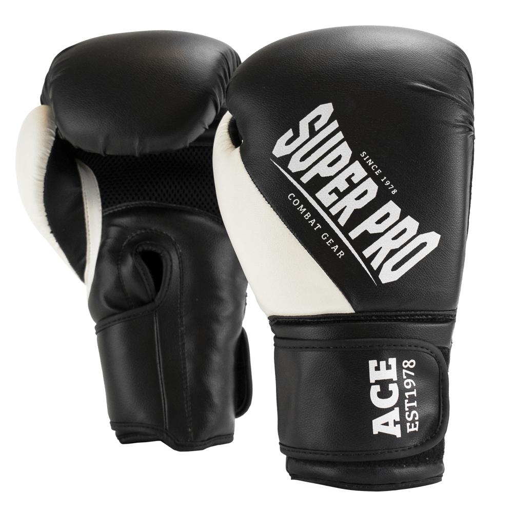 Super Pro Combat Gear ACE (kick)bokshandschoenen Zwart/Wit