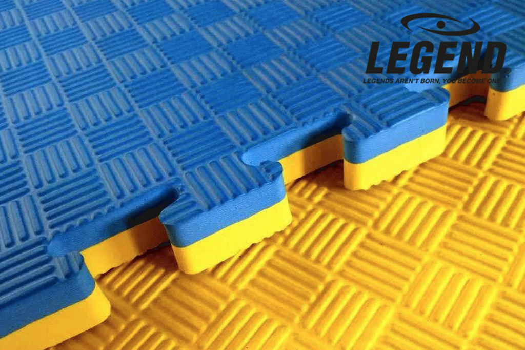 Legend Puzzelmat sport 4CM Blauw/Geel