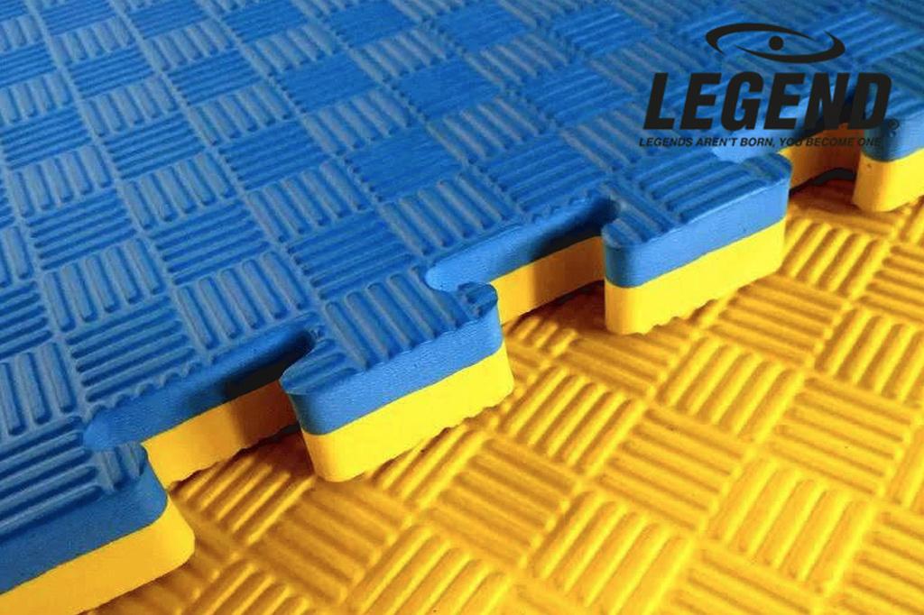 Legend Puzzelmat sport 2CM Blauw/Geel