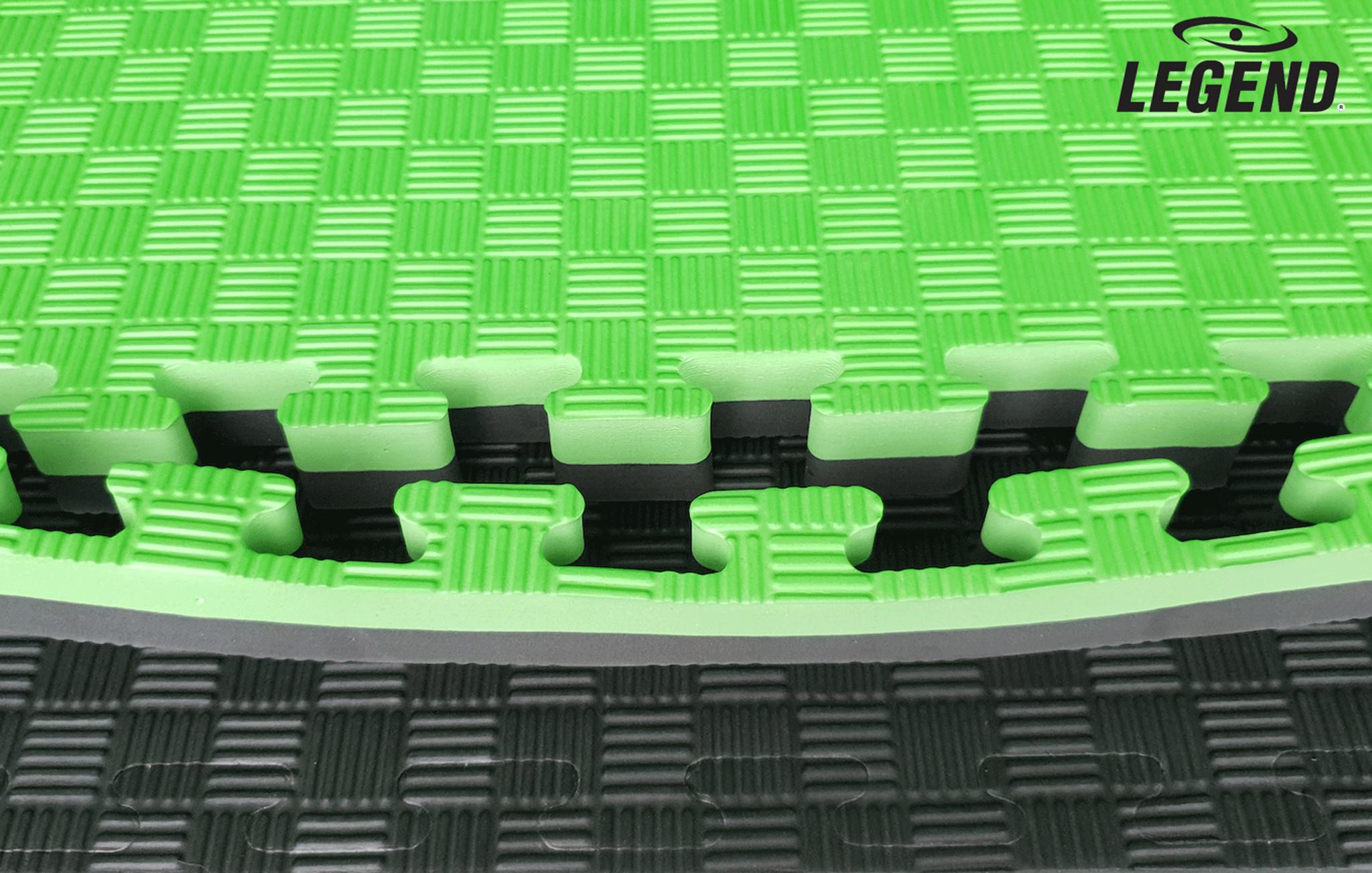 Legend Puzzelmat sport 4CM Groen/Zwart