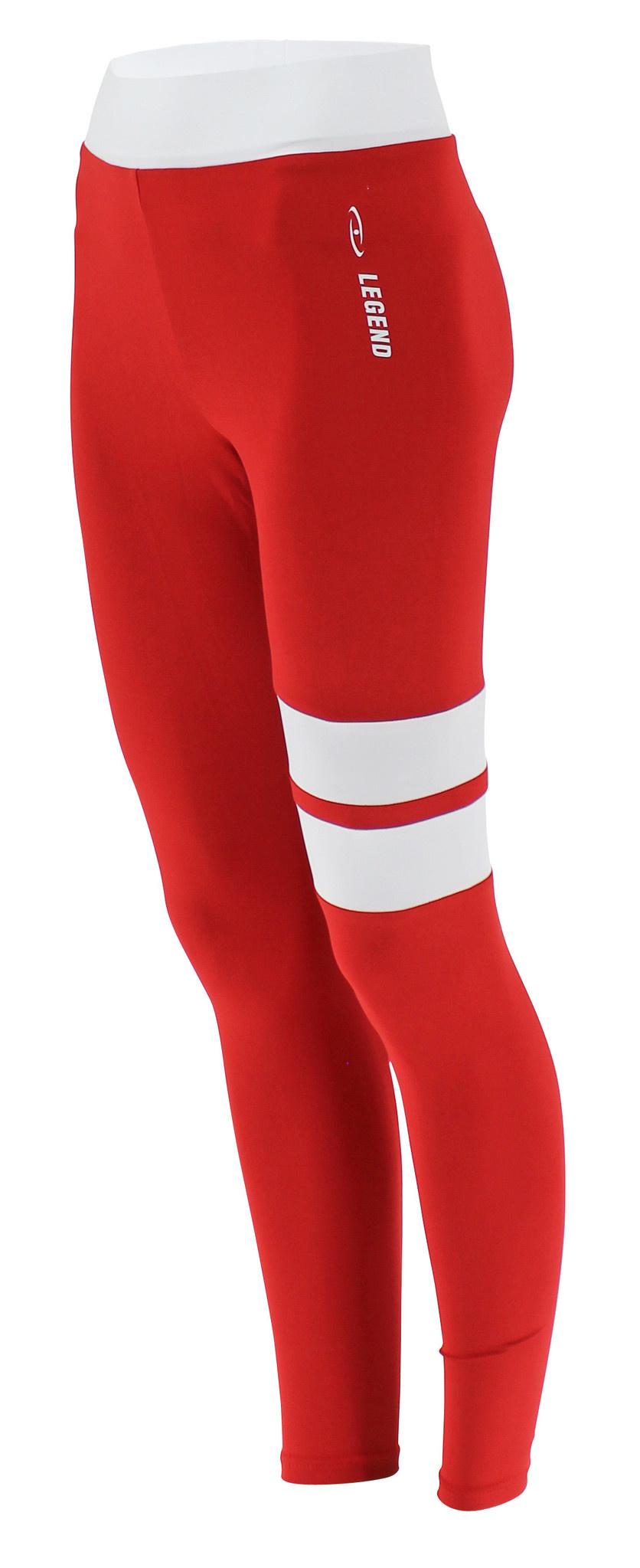 Sportlegging Red White Stripe