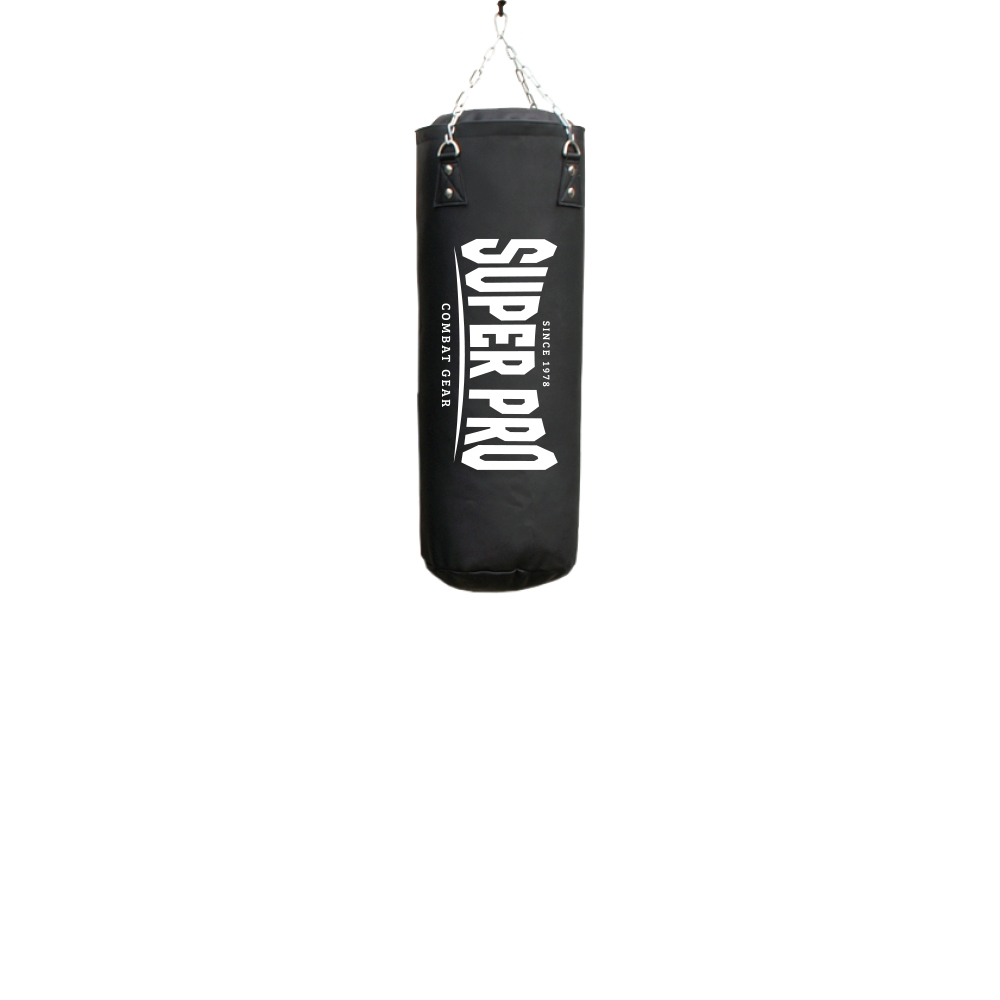 Super Pro Combat Gear Luxury Bokszak PU Vertical Logo Zwart