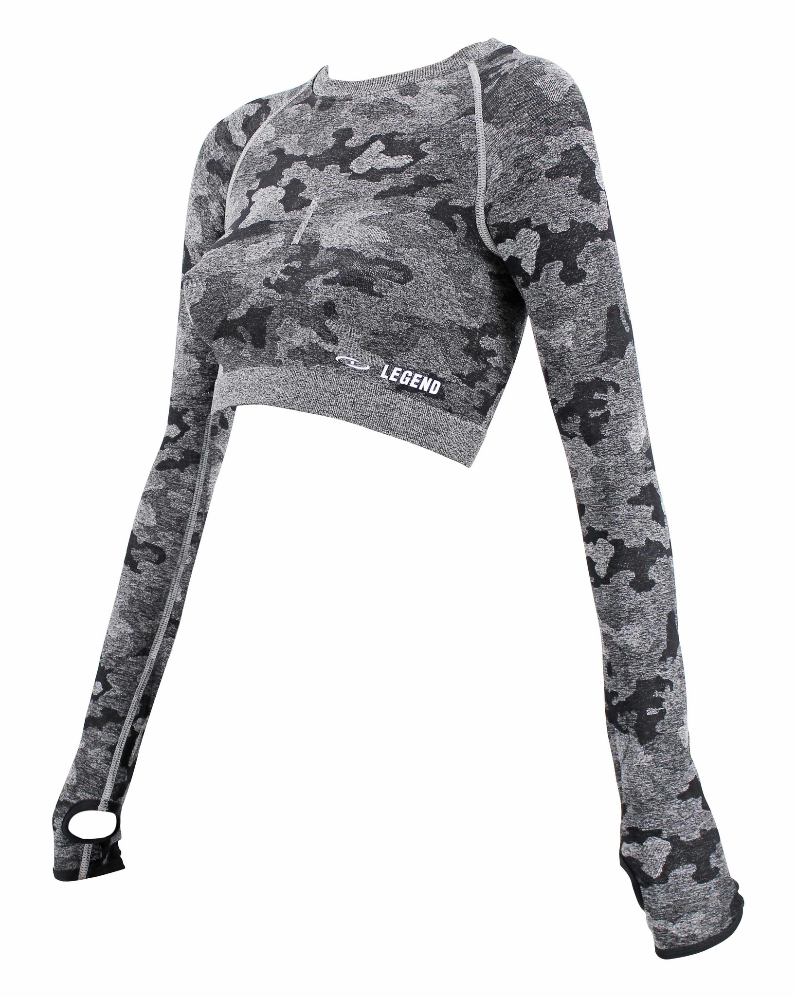 Dames Sport-Top Army Gray