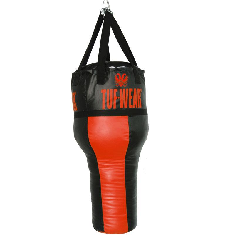 TUF Wear anglebag / bokszak met hoek rood/zwart