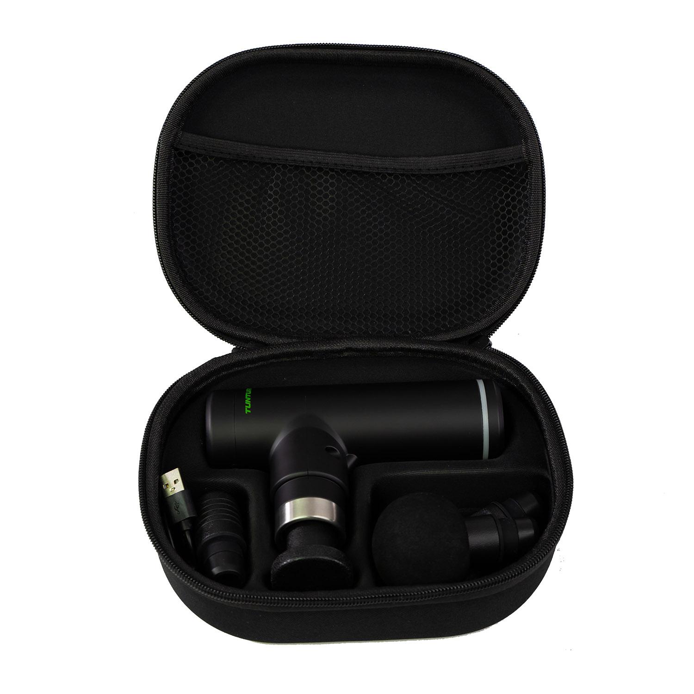 Tunturi Massage Gun mini - Oplaadbaar - Incl. 4 opzetstukken en koffer