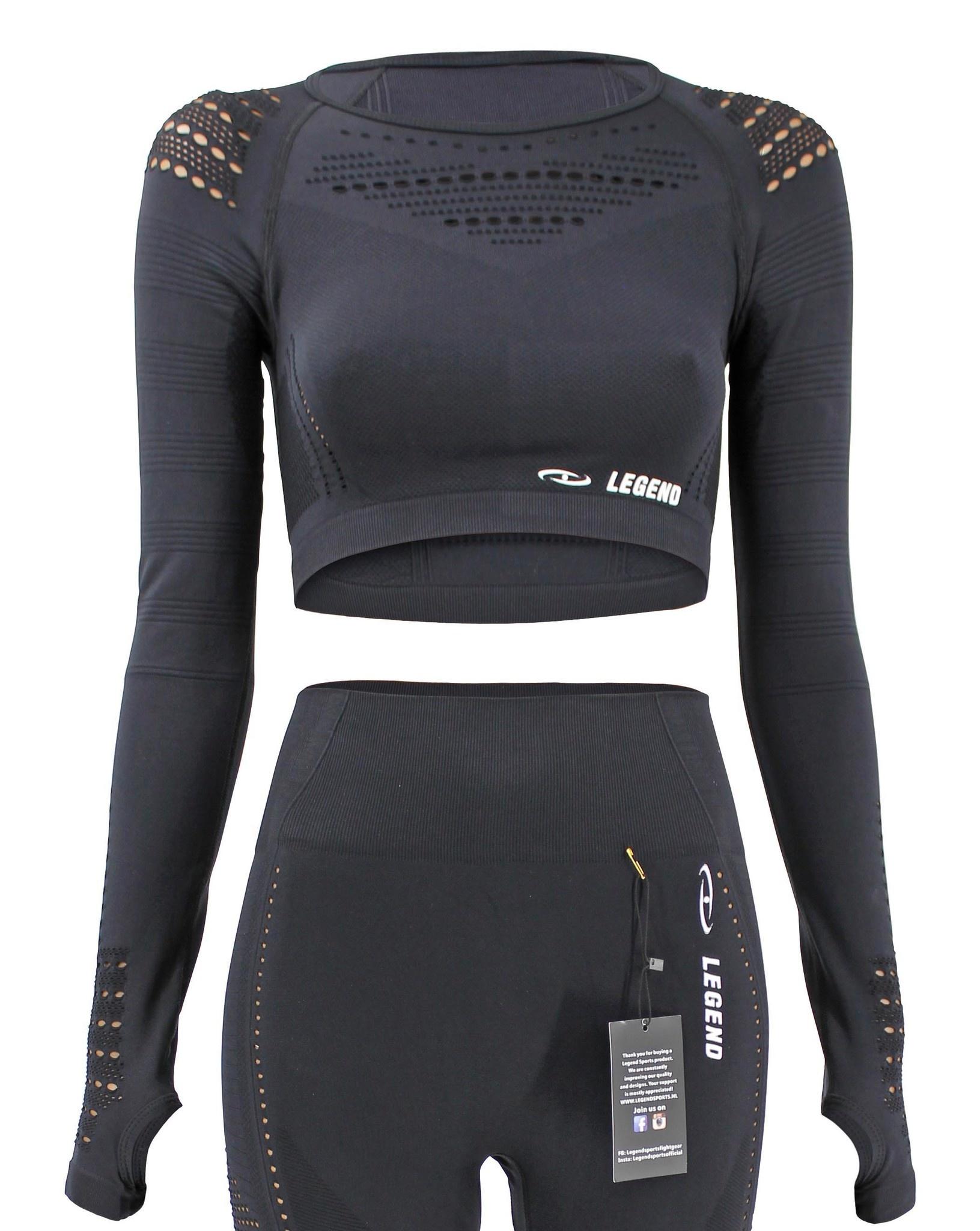 Dames Sport-Top Black