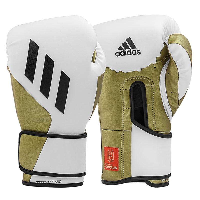 adidas (kick)Bokshandschoenen Speed TILT 350V Pro Training Wit/Goud