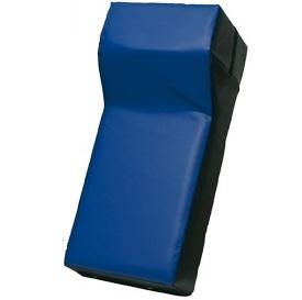 Trap/stootkussen met hoek 75 x 35 x 25-15 Zwart/blauw