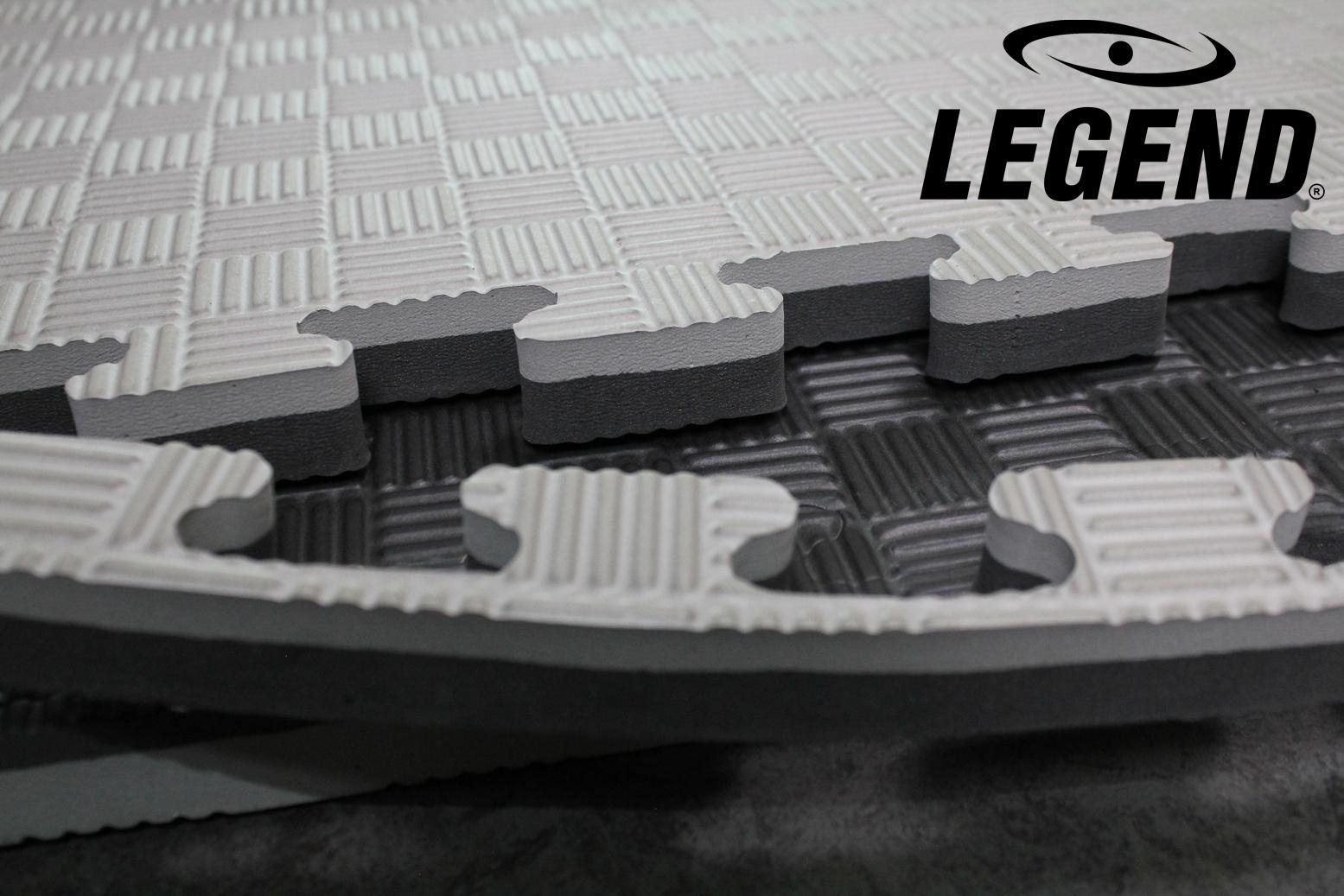 Legend Puzzelmat sport 3CM Zwart/Grijs