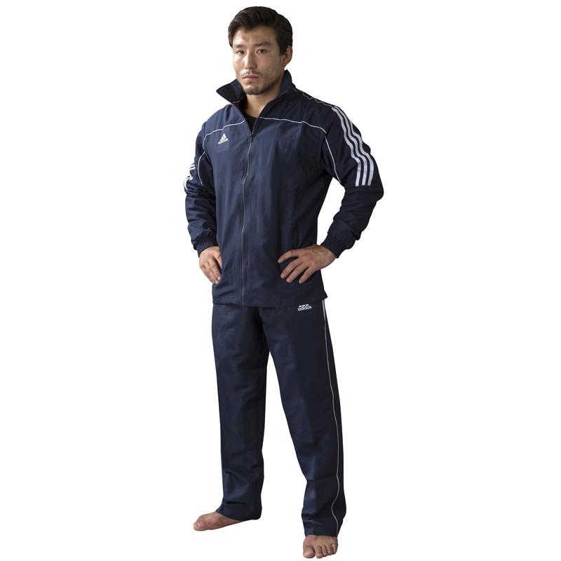 adidas Team Track Trainingsjack Blauw/Wit 164