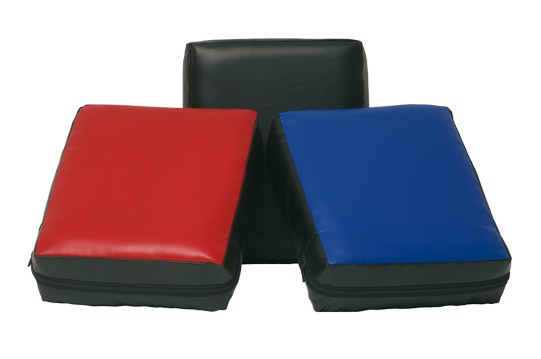 Handpad vierkant 30 x 25 x 10 zwart/blauw