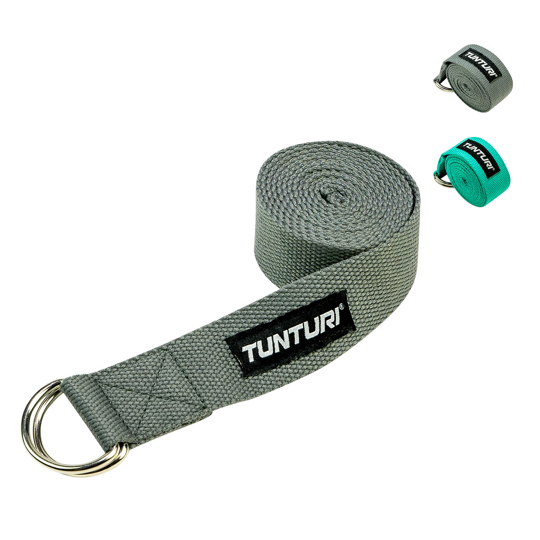 Tunturi Yoga riem - yoga straps - 200cm - Antraciet
