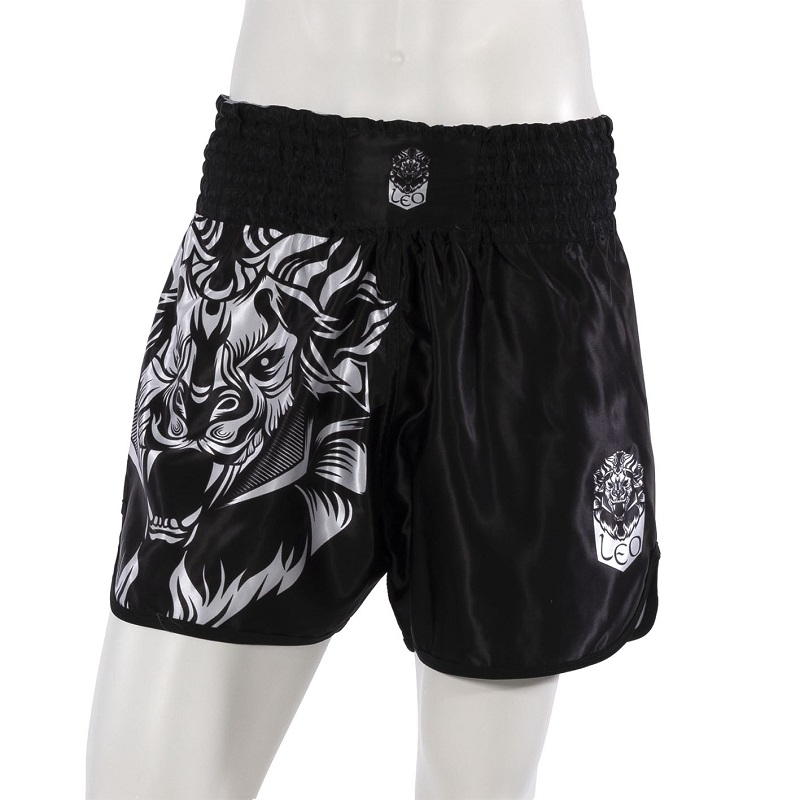 Leo INSTINCT Kickboxing Short - Black/White
