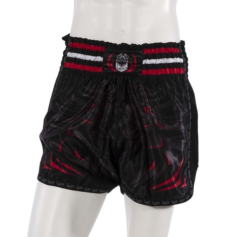 Leo PREDATOR Mesh Kickboxing Short - Black/Red